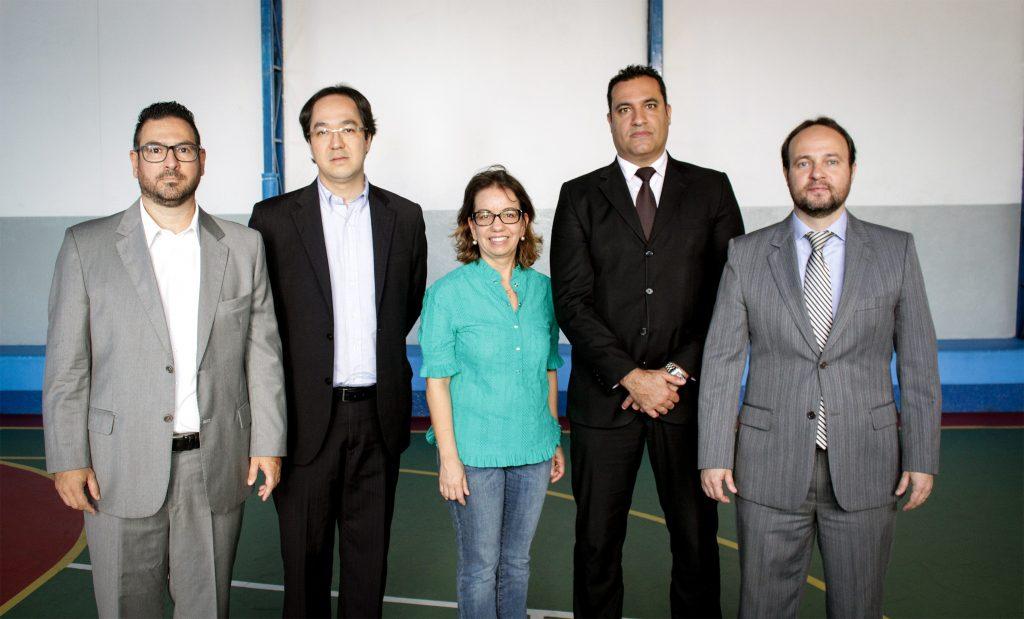 Da esquerda para a direita: Palmieri, Sano, Moema Vargas, Ongaro e Corrêa